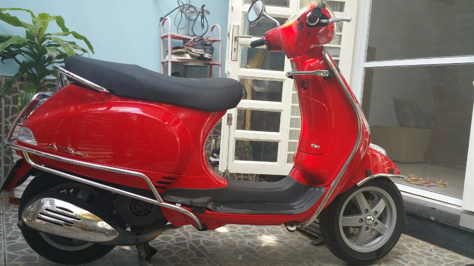 Piaggio Vespa LX 125 2014 mau do bien so thanh pho moi 95