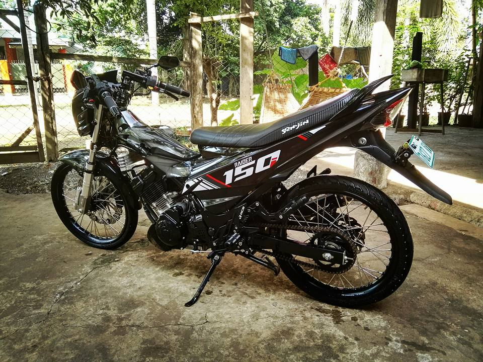Raider 150 black edition bong ma duong pho