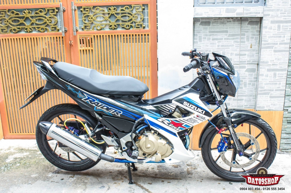 Suzuki Raider day tinh te voi nhung option do choi