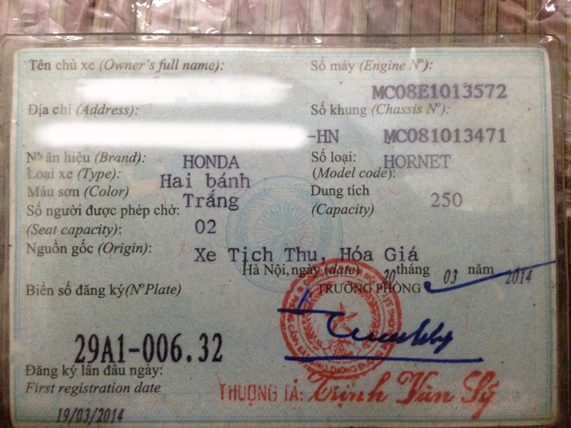 Ban Honda hornet 250 4 may 40 Hp Thanh ly CATP Ha Noi - 3
