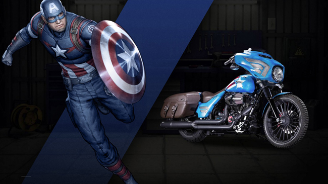 Can canh HarleyDavidson Street Glide Special phien ban Captain America
