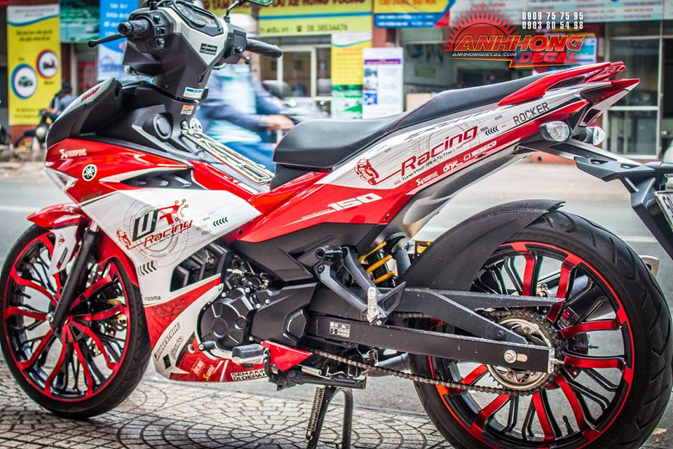 Hang doc Yamaha Exciter 150 Red Racing tu Anh Hong Decal - 5