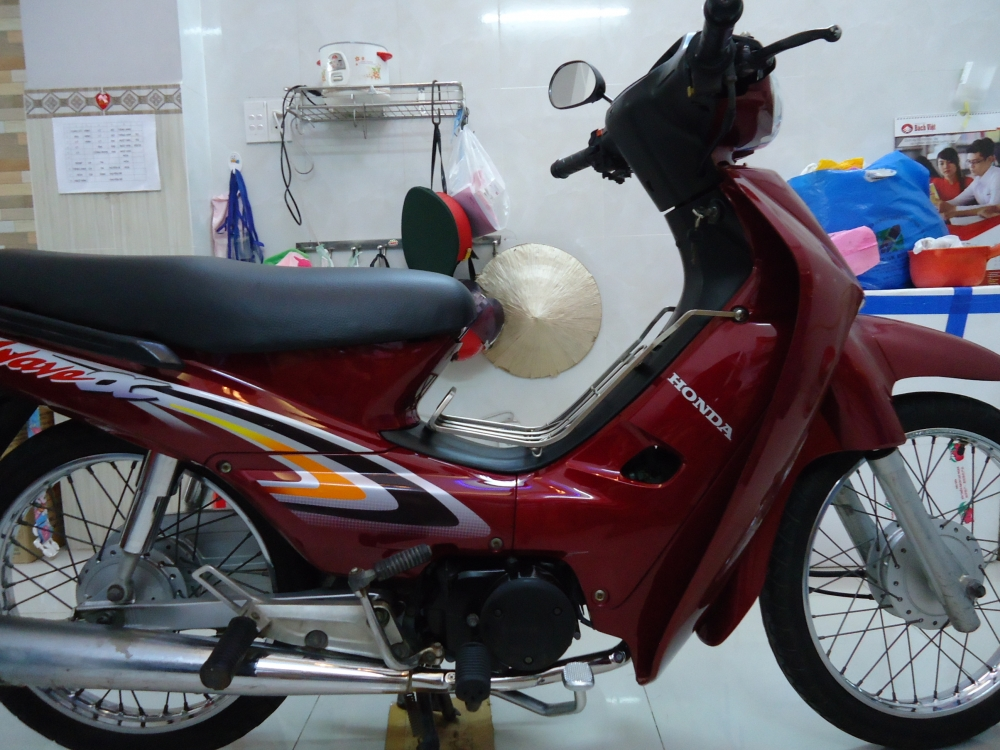 Honda Wave Alpha loc den 2002 mau Do - 4