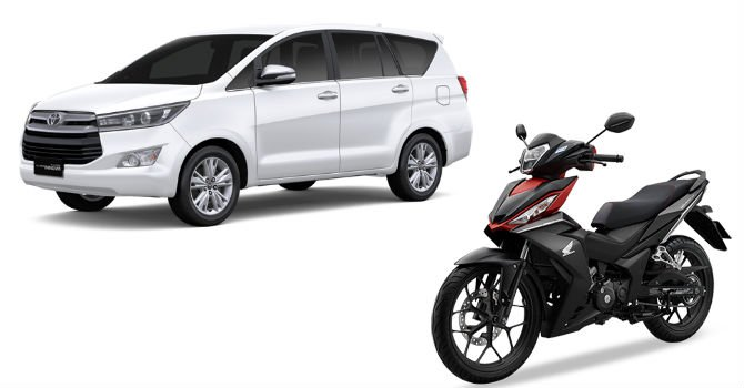Honda Winner va Toyota Innova tai Indonesia re hon nhieu so voi Viet Nam