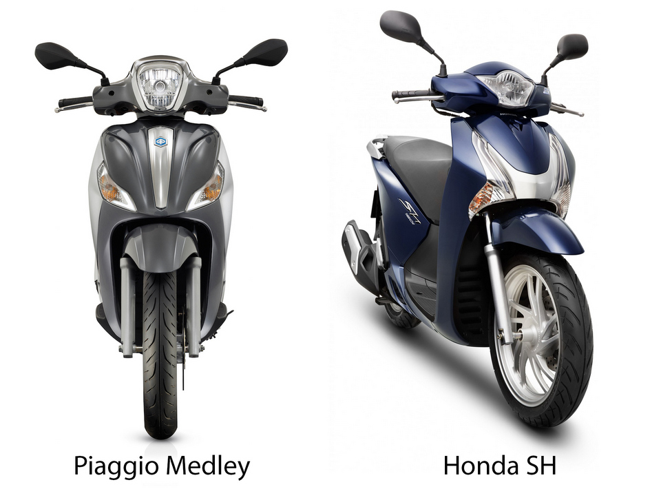 Doanh so Honda SH gap 30 lan so voi Piaggio Medley - 3