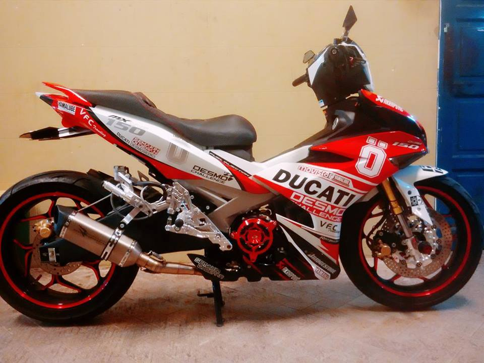 Exciter 150 do ham ho voi phong cach ducati