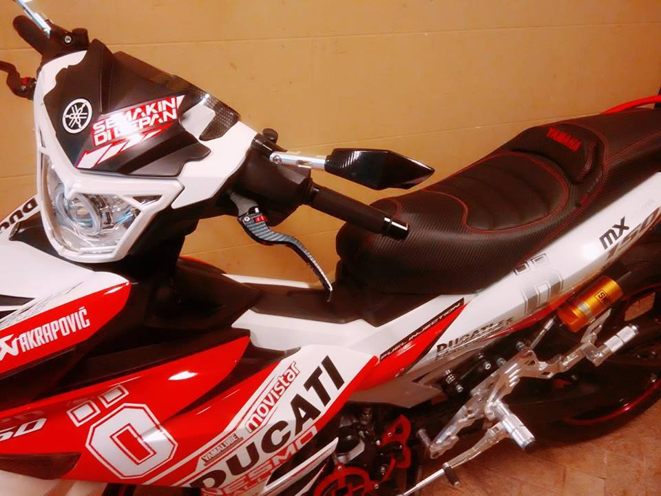 Exciter 150 do ham ho voi phong cach ducati - 5
