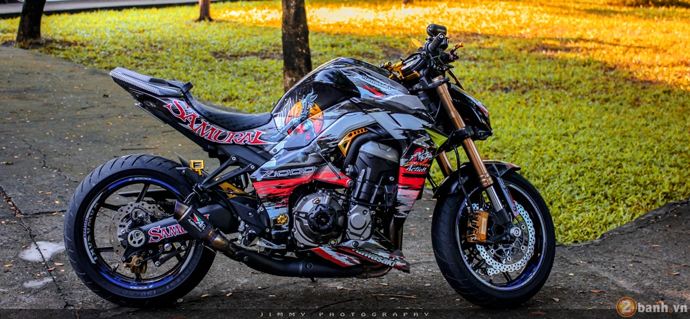 Kawasaki Z1000 than thanh voi ban do Samurai