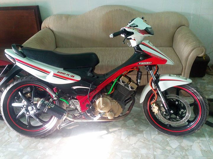 Suzuki FX125 do gap khung suon do chung to dan choi