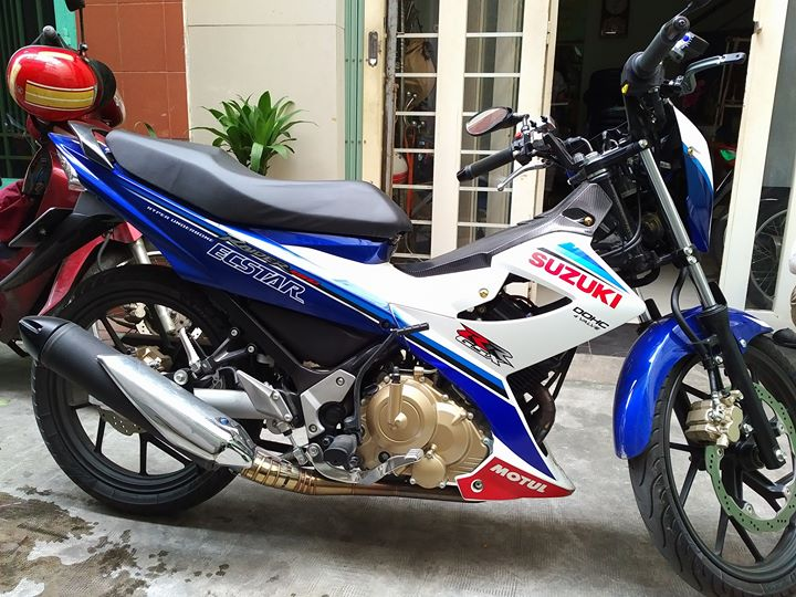 SUZUKI RAIDER 2016 phien ban Ecstar do cuc khung voi dan do choi chat