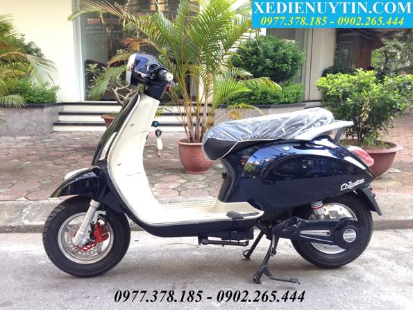 THONG BAO XE MAY DIEN VESPA NIOSHIMA 2016 DA CO HANG TRO LAI