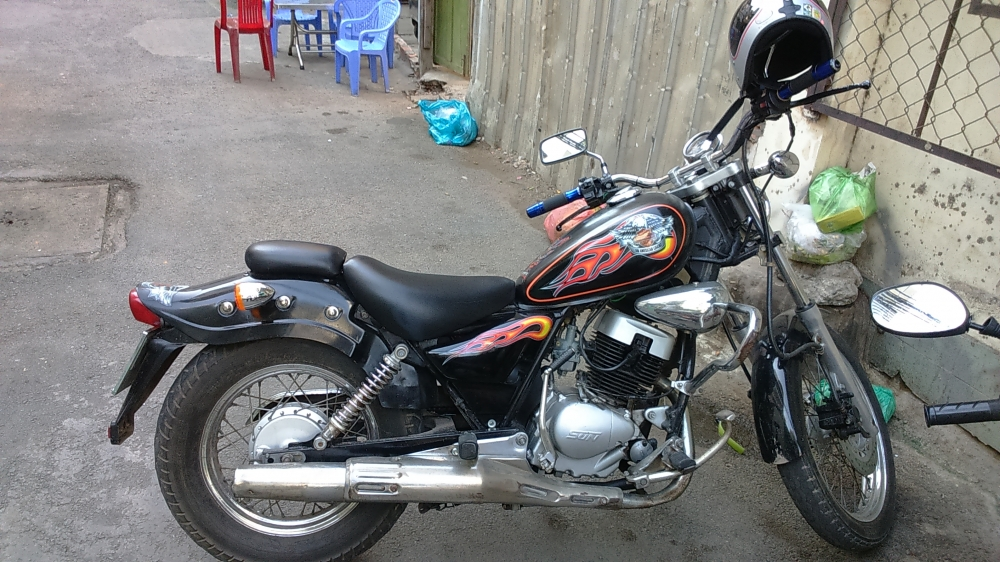 ban xe moto husky 150cc do dang rebell co dien - 7