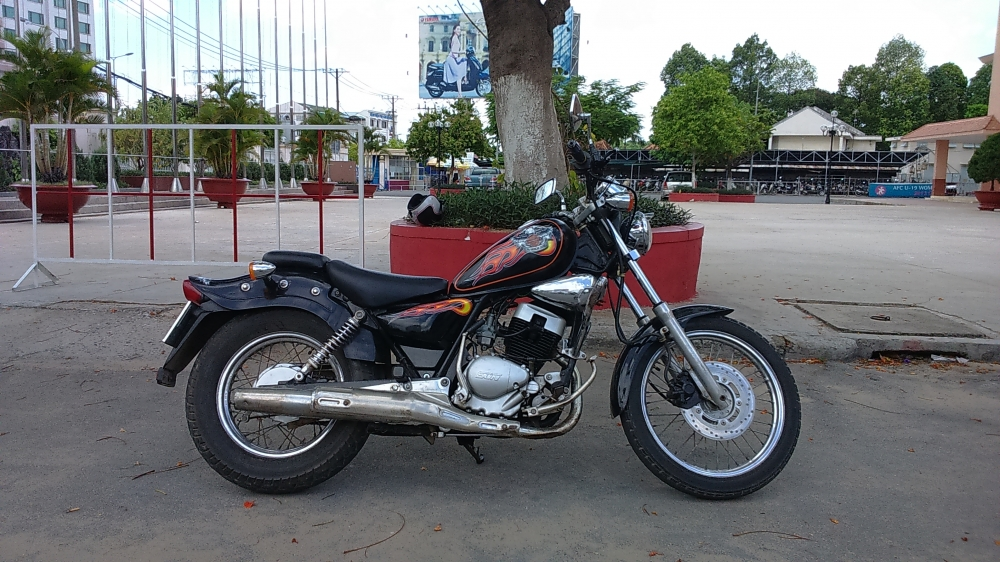 ban xe moto husky 150cc do dang rebell co dien - 4