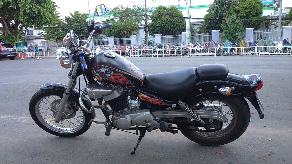ban xe moto husky 150cc do dang rebell co dien - 6