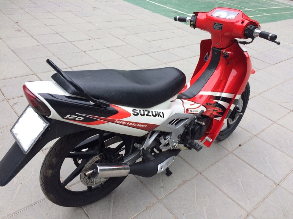 Can ban Suzuki Xipo Satria 2000 mau do trang 120cc 6 so - 2