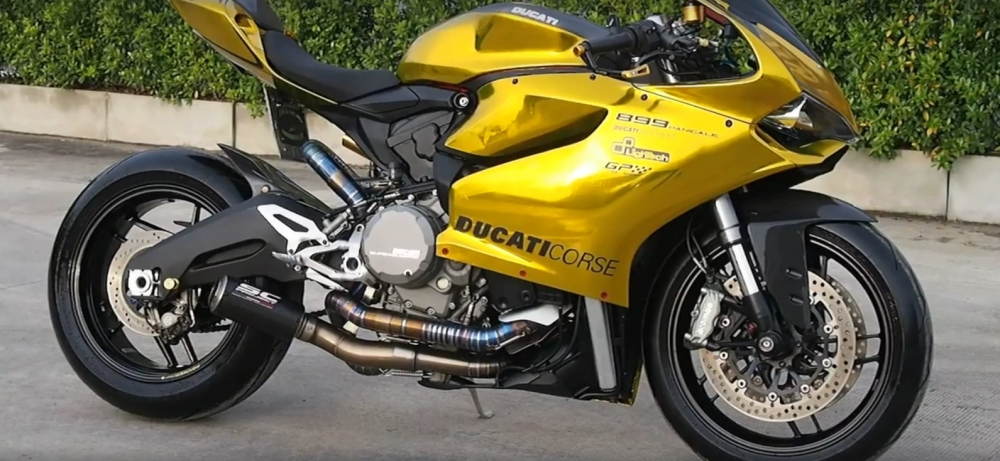 Clip Ducati 899 phien ban hoang gia quy toc thi tham voi SC Project