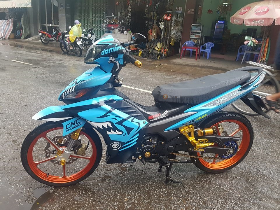 Exciter 135 trong bo canh ca map xanh day ham ho