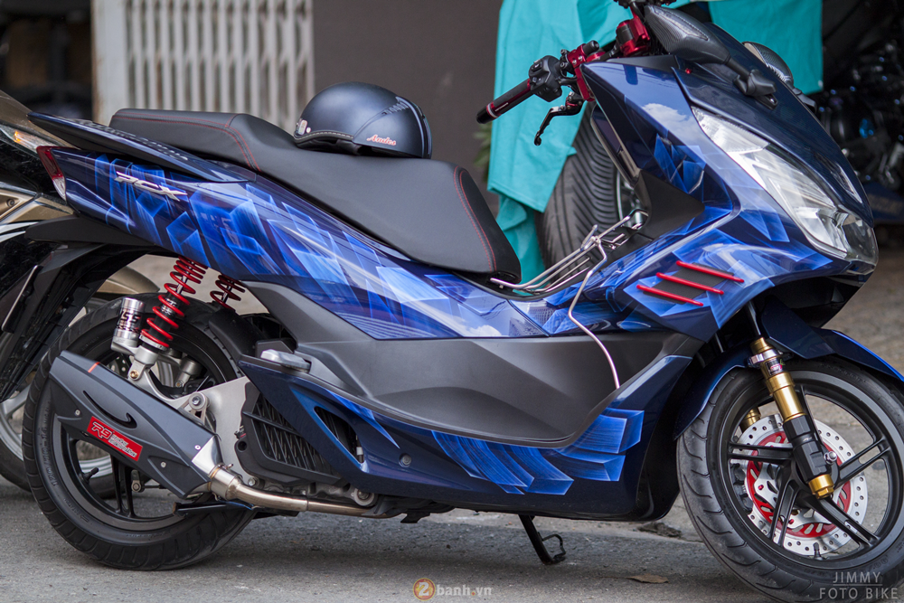 Honda PCX trong ban do 3D voi ten goi Never Say No