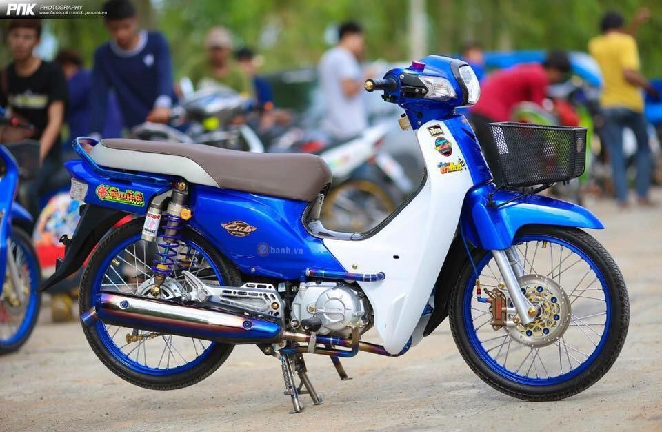 Super Cub do day chat choi cua biker Thai Lan - 8