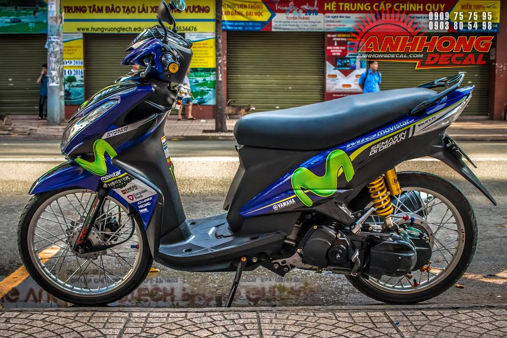 Yamaha Mio do phien ban Movistar an tuong