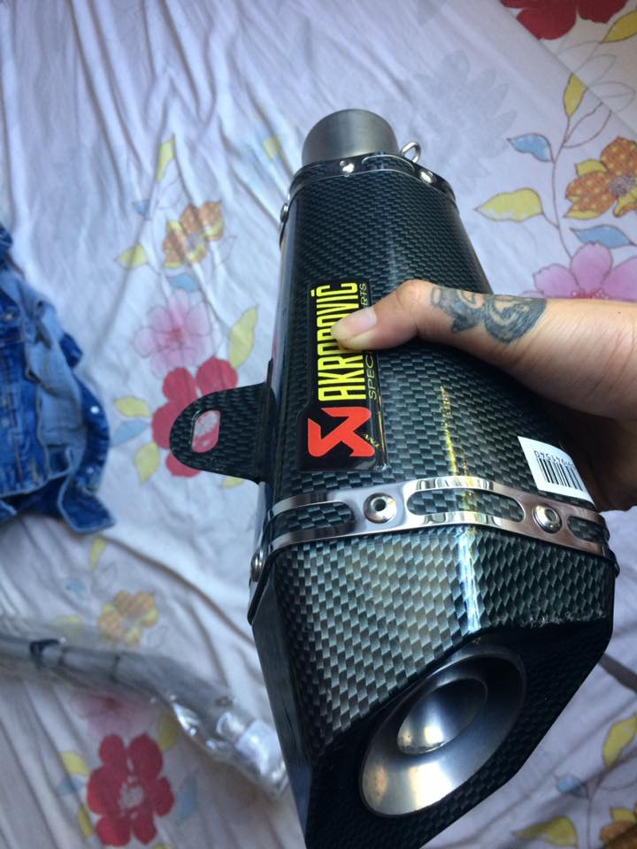 Ban Mam KUNI red black Phuoc Up Side Down Ex150 Po Akrapovic carbon co titan cho Ex150 - 2