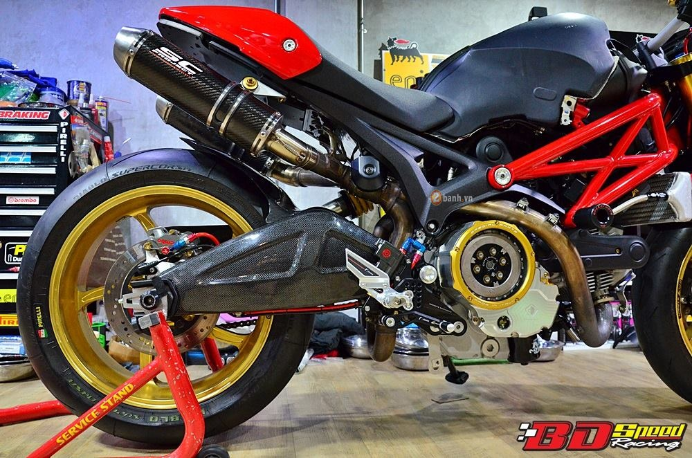 Ducati Monster 795 day an tuong voi ban do con dang do - 7