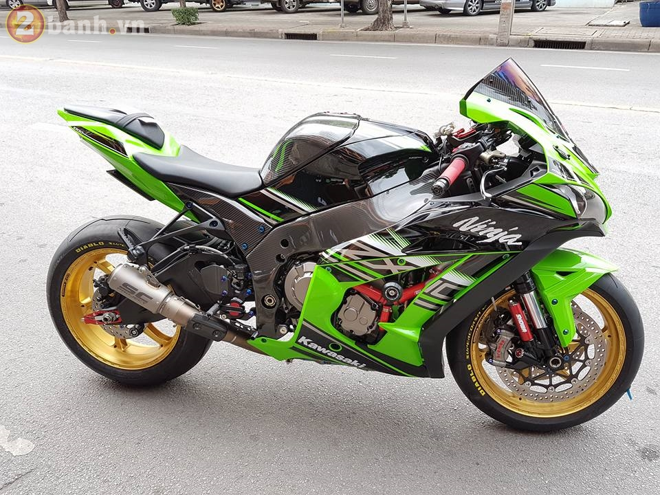 Kawasaki Ninja ZX10R 2016 cuc chat trong ban do day do hieu