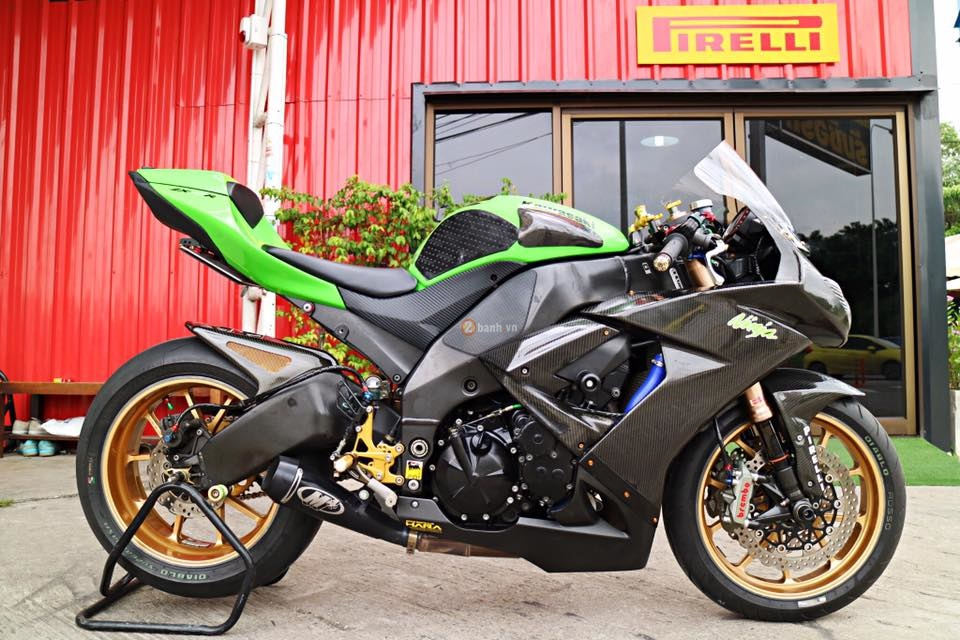 Kawasaki ZX10R ban do hang hieu day an tuong cua biker Thai