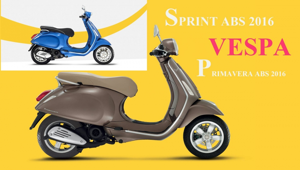 So sanh xe Vespa Sprint abs va Vespa Primavera abs