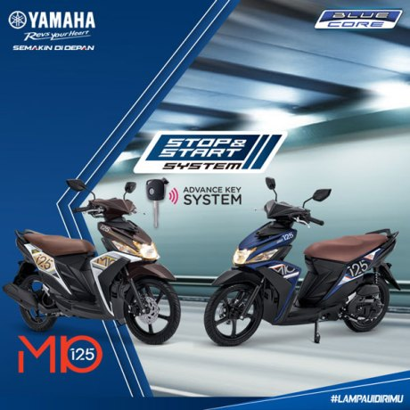 Yamaha Mio 125 duoc bo sung them tinh nang Smart Start Stop