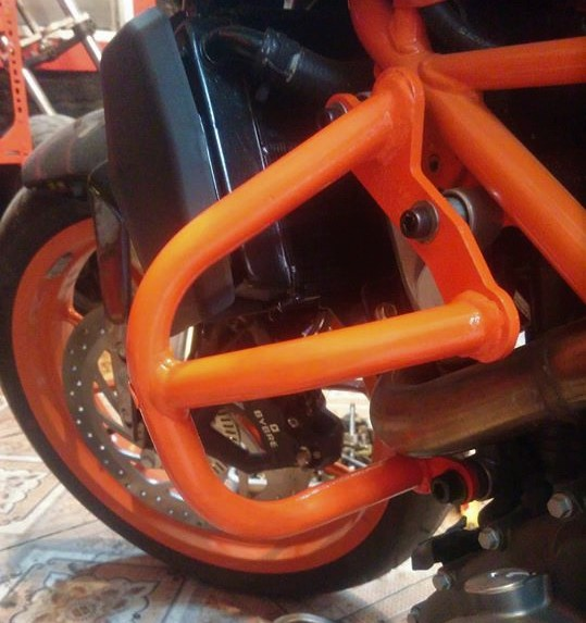 KTM Ha NoiChong do khung Cobra KTM Duke 250390 mau cam