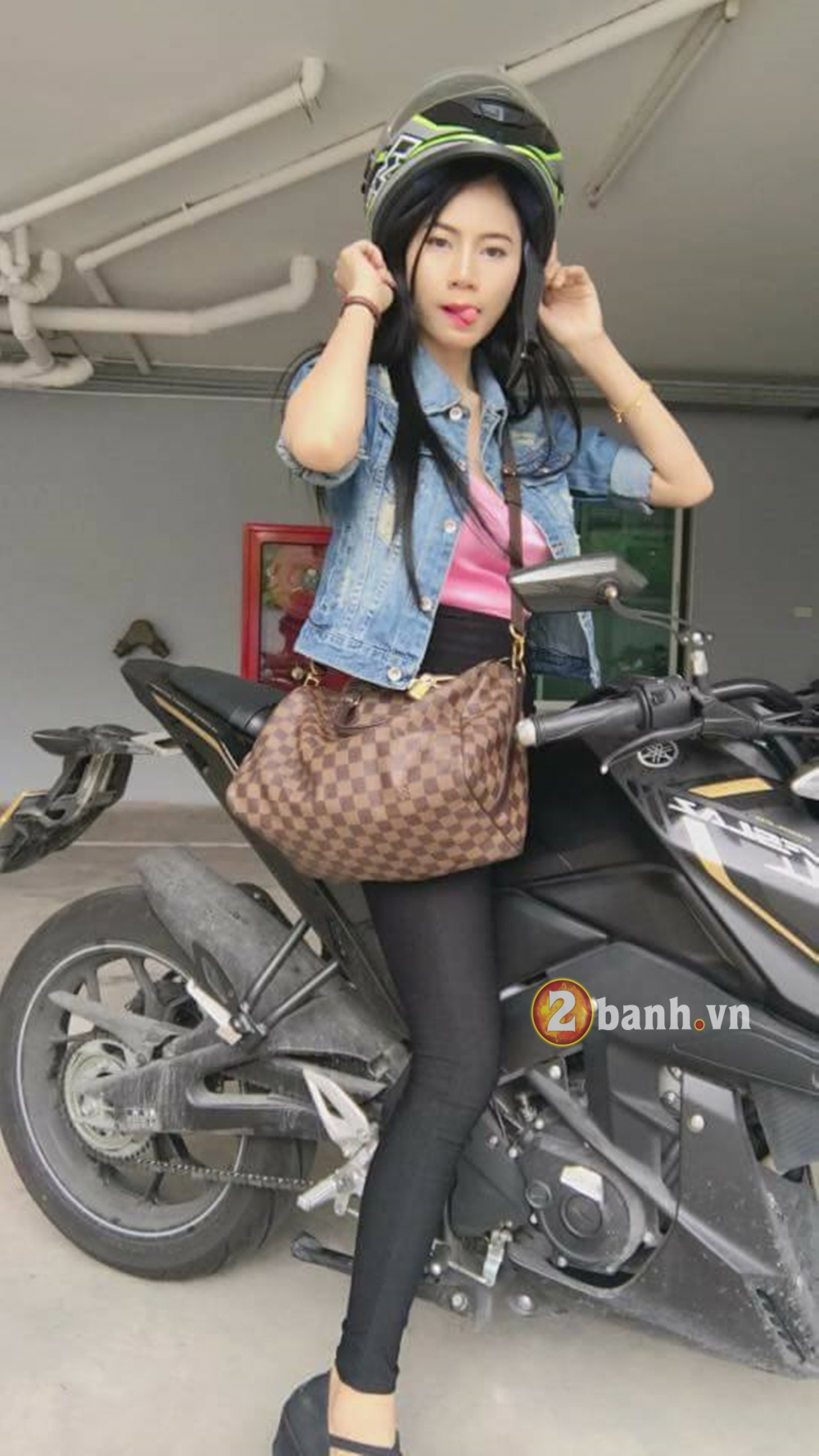 Me man cung Hot Girl Thai do dang cung Yamaha MSlaz - 3