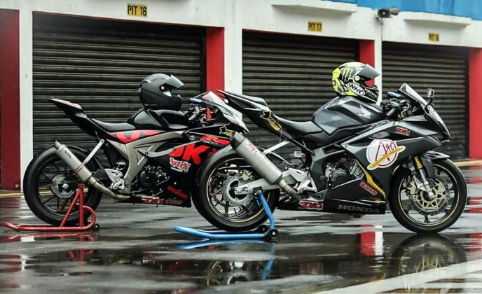 GSXR150 Racing so dang cung CBR250 Racing cuc ngau