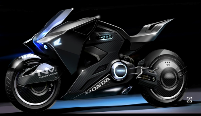 Honda NM4 Vultus xuat hien day an tuong trong bo phim Ghost in the Shell