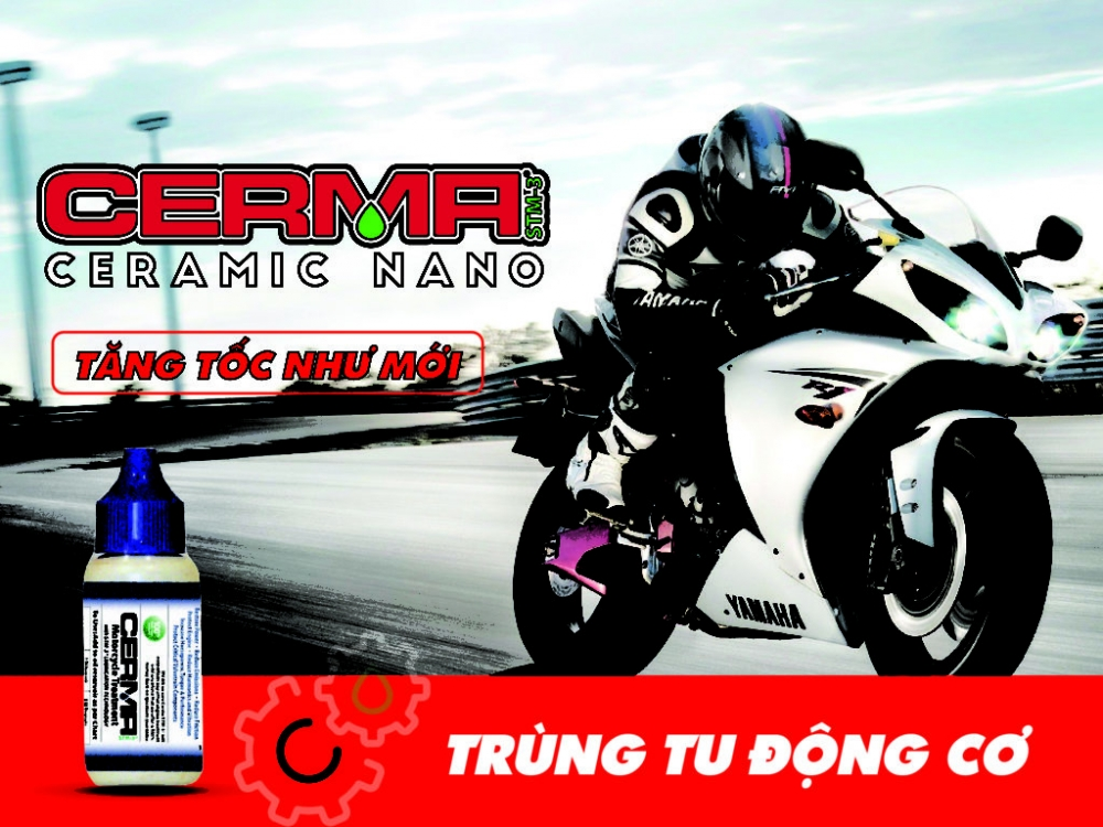Cerma Motorcycle Chat xu ly ve sinh pistong dong co xe may