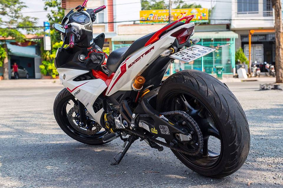 Yamaha Exciter 150 do KHUNG voi dan chan day co bap - 5