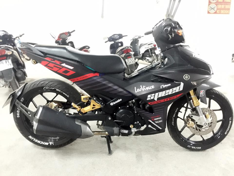 Yamaha Exciter 150 ham ho voi nong sung Z1000