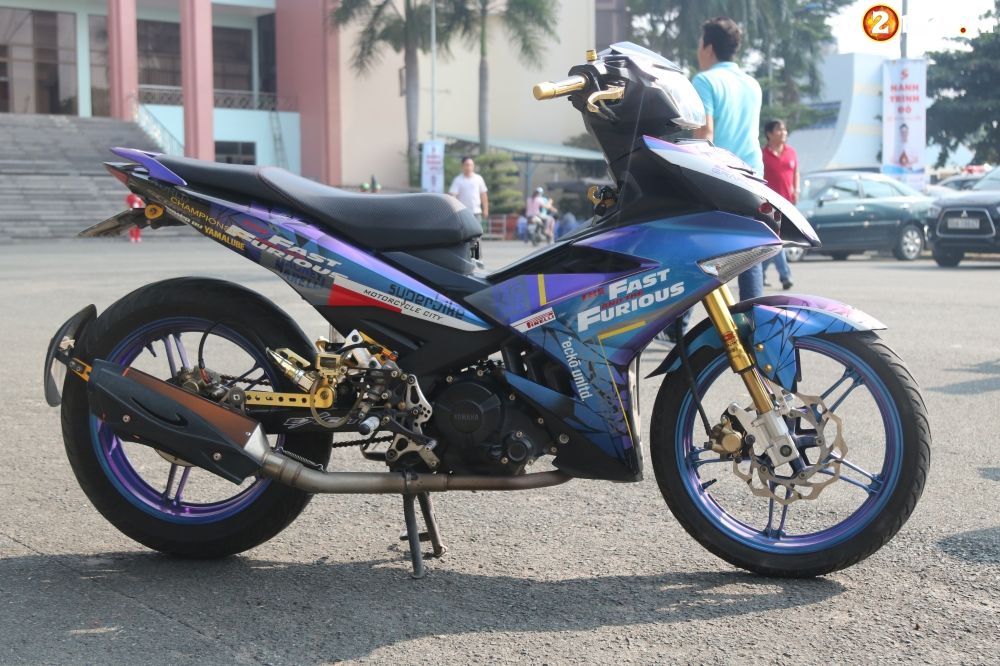 Exciter 150 kieng nhe an tuong voi bo canh Fast and Furious