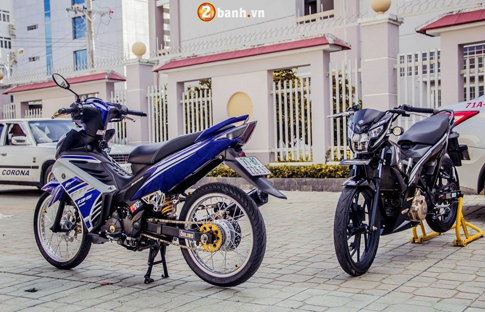 Bo anh Exciter 135 do khoe dang cung Raider Fi day ca tinh