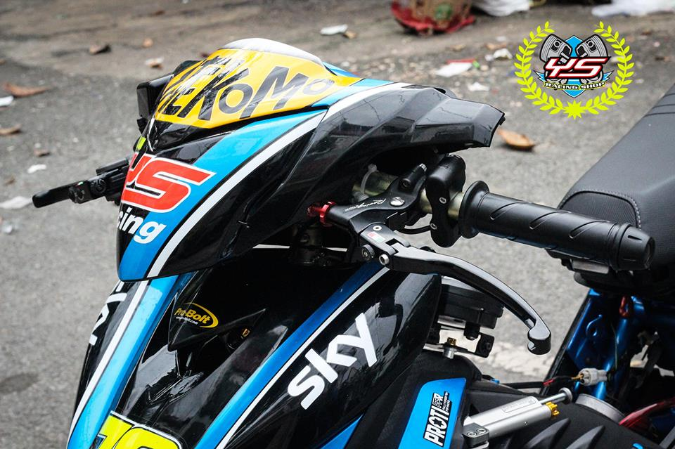 Exciter 135 do phong cach Drag day manh me uy luc - 4