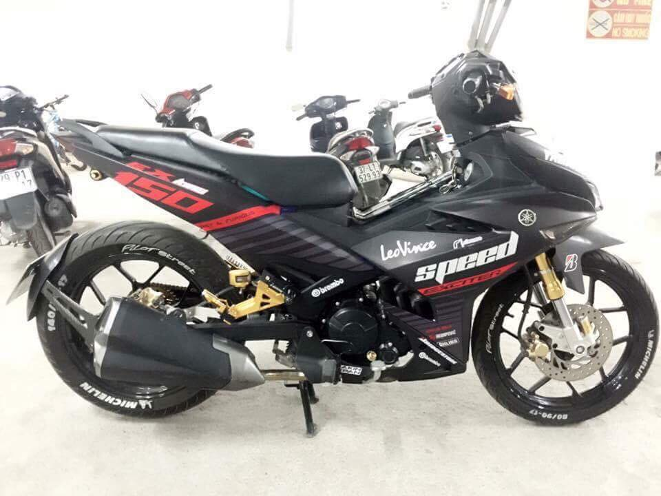 Exciter 150 do ham ho day uy luc voi nong sung Z1000 - 4