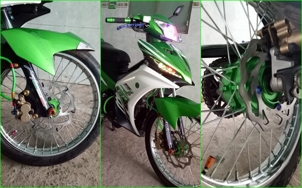Exciter 135 do don gian day ca tinh cua biker Tien Giang