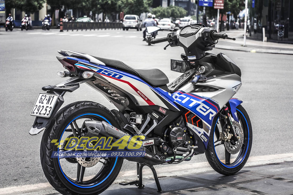 Tem trum Exciter 150 Police xanh bac tai Decal 46 - 4