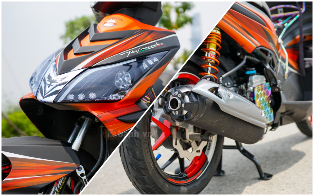 Air Blade 110 do chat den tu biker Sai Thanh