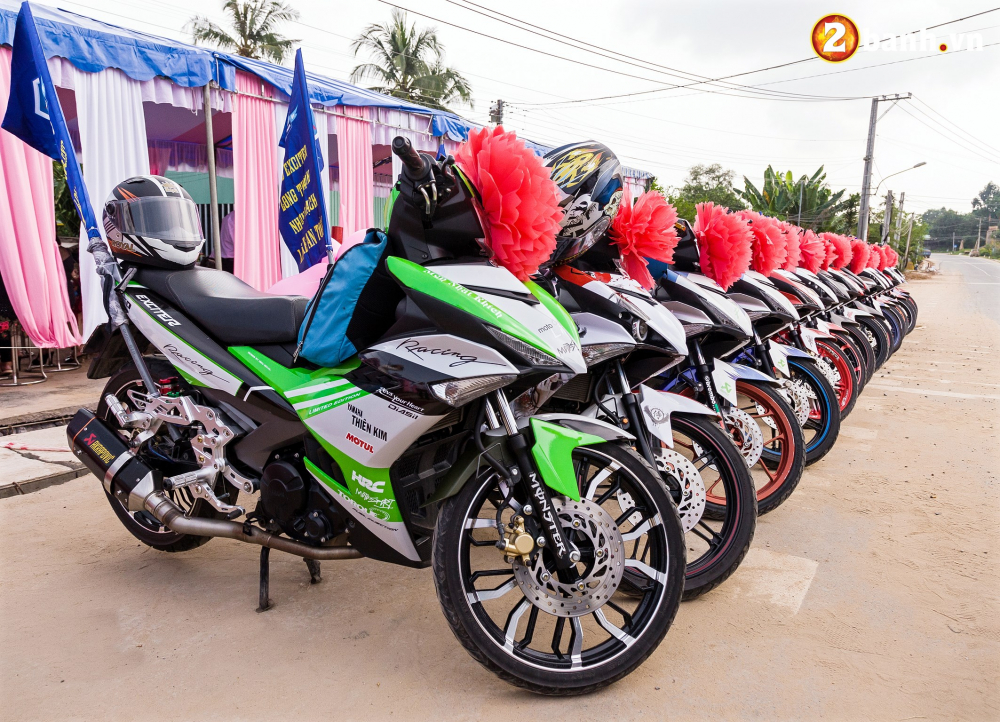 Club Exciter ACE Long Thanh Nhon Trach voi doi hinh 40 chiec Exciter cuop dau day hoanh trang - 14