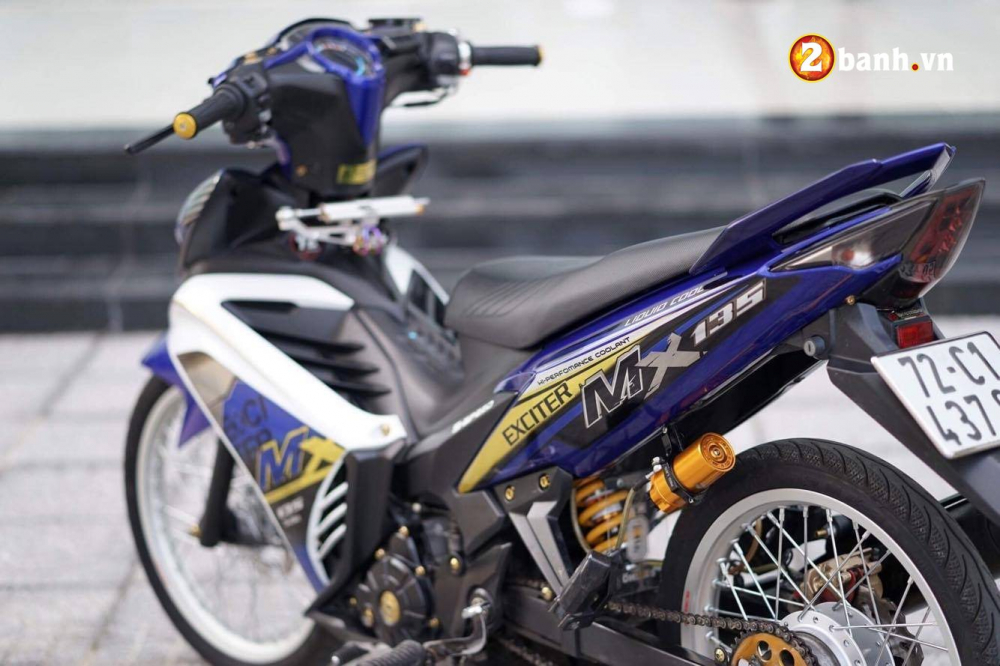 Exciter 135 do chat den ngat voi bo canh MX dam chat the thao - 3