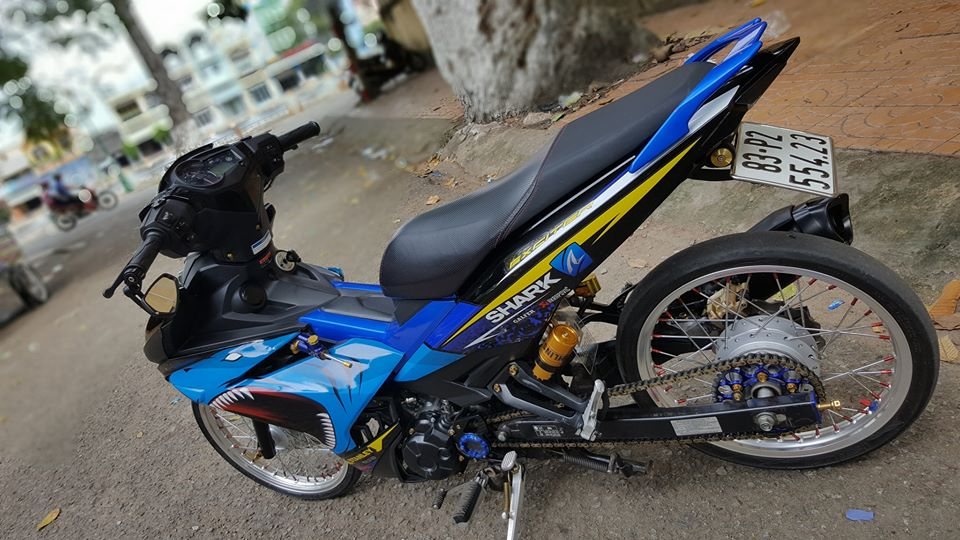 Exciter 150 do duoc giam can voi dan chan luoi lam - 6