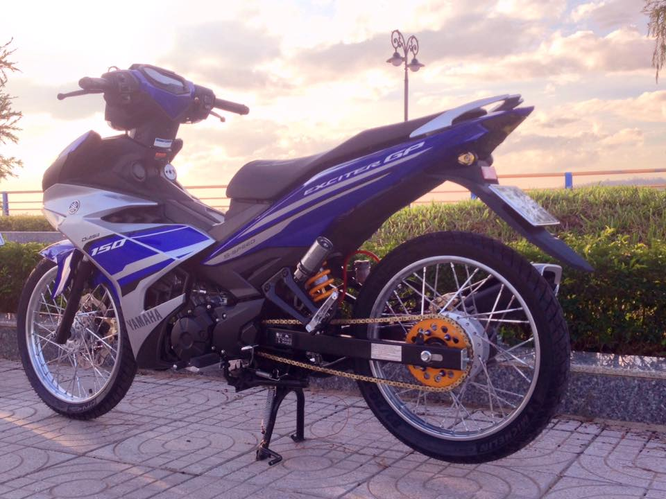 Exciter 150 do gon gang voi dan chan luoi lao than toc - 8