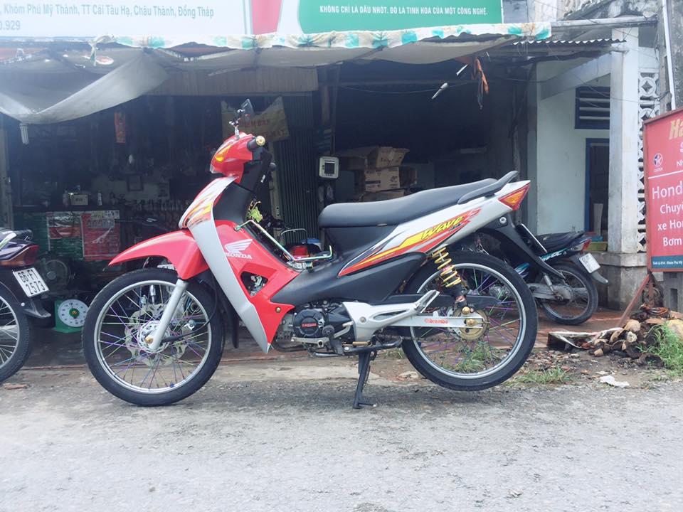 Honda Wave do tam huyet voi doi chan 7 mau cuc dep - 3