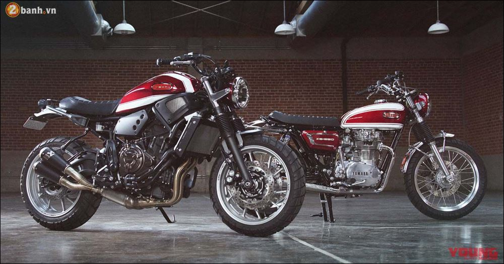 Kich thich voi cap doi XS650 XSR700 do mang ten Fast Father Faster Son